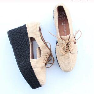 Jeffrey Campbell Rafia Clinton Platform Shoes 9